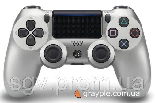 Беспроводной геймпад PlayStation Dualshock V2 Bluetooth PS4 Silver