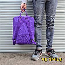 Рюкзак Fjallraven Kanken Classik 16L \ Канкен Классик 16л Фиолетовый Violet (городской) Top replic, фото 2