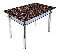 Кухонный стол из стекла КС-1 (900*600) фотопечать
