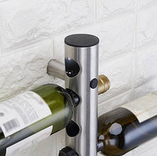 Настенная полка для вина из стали, Подвеска-держатель на 12 бутылок, фото 3