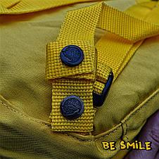 Рюкзак Fjallraven Kanken Mini 7L \ Канкен Мини 7л Желтый Warm Yellow (городской) Top replic, фото 3