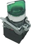 Кнопка PB2-BK2565 2-х позиционный переключатель с LED подсветкой желтый Ø22mm NO + NC Electro