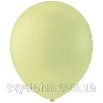 """Латексные шарики 12"""" декоратор Apple Green, зеленое яблоко, Мексика, (100шт/уп)"""