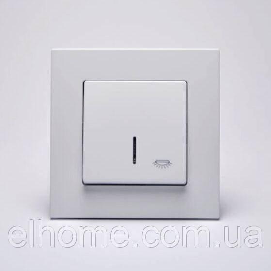Кнопка контролю освітлення з підсвіткою Gunsan Eqona біла