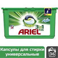 Капсулы для стирки универсальные Ariel 3-в-1 Mountain Spring, 36 шт.