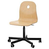 VÅGSBERG / SPORREN Поворотне крісло, березовий шпон, чорне  890.066.64