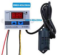 Регулятор влажности XH-W3005, для инкубатора, двух пороговый, управление влажностью 00 ~ 99% RH, фото 1