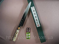 Нож янагиба кухонный японский Sakai Yoshiharu Shirogami YANAGIBA Sashimi 240мм