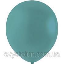 """Латексные шарики 12"""" декоратор Aqua Blue, морская волна, Мексика, (100шт/уп)"""