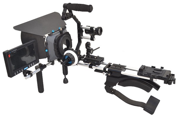 Комплект Рига ProAIM RIG kit 1: Rig 125, MB-600, Follow focus V2, Pro ZOOM, LCD kit, Бат. платформ