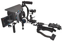 Комплект Рига ProAIM RIG kit 1: Rig 125, MB-600, Follow focus V2, Pro ZOOM, LCD kit, Бат. платформ, фото 1