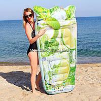 Надувной плотик, матрас Intex Мохито (58778). Для пляжа