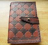 Кожаный блокнот скетч бук ручная работа на застежке подарок, фото 7
