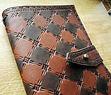 Кожаный блокнот скетч бук ручная работа на застежке подарок, фото 6