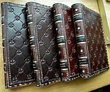 Кожаный блокнот ежедневник винтажный ручной работы оригинальный подарок, фото 10