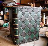 Кожаный блокнот ежедневник винтажный ручной работы оригинальный подарок, фото 5