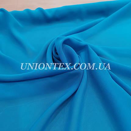 Ткань шифон голубая бирюза, фото 2