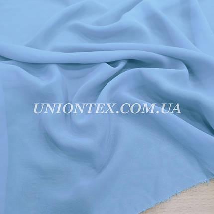 Ткань шифон голубой, фото 2