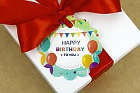 "Бирка декоративная 143 ""Happy Birthday"""