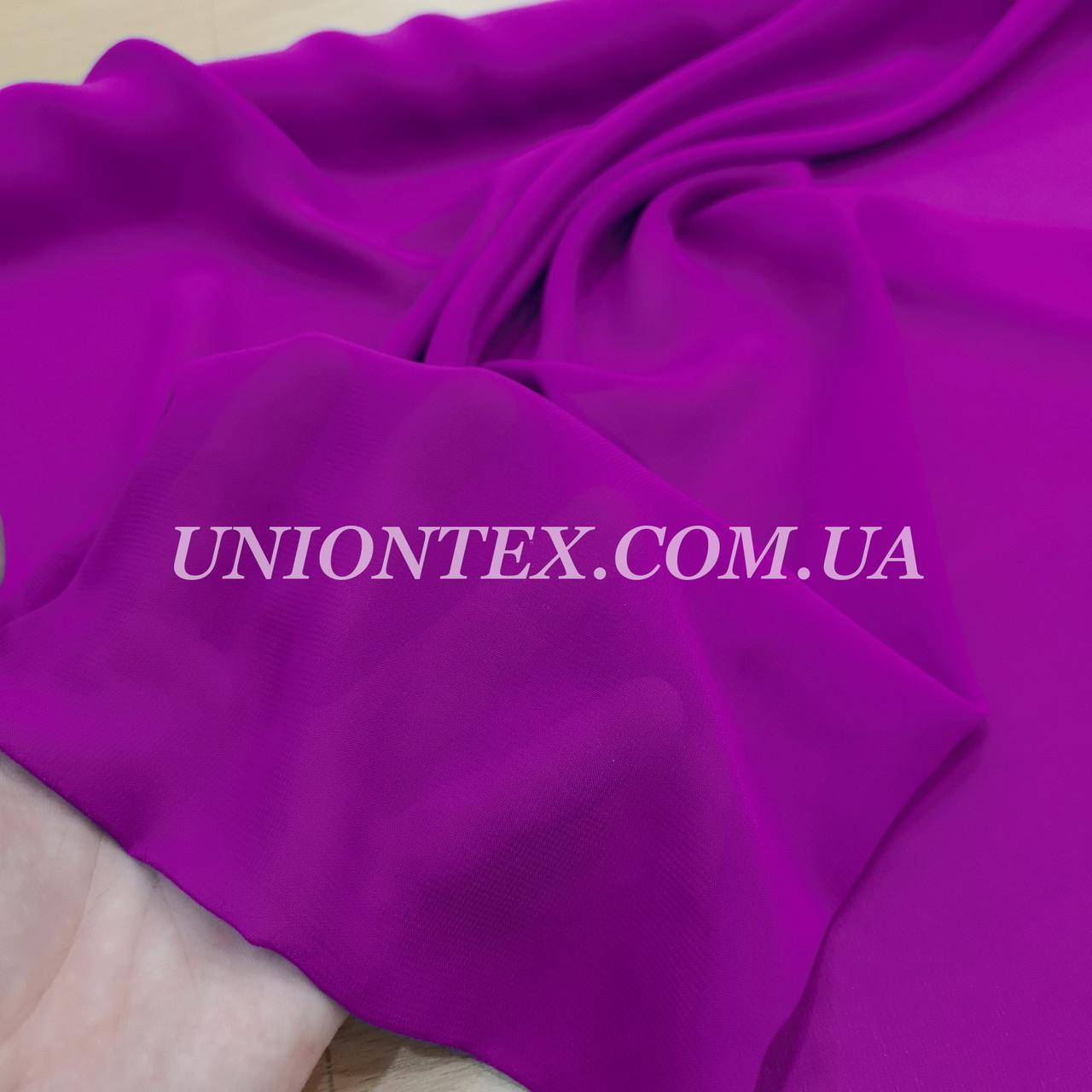 Ткань шифон фиолетовый
