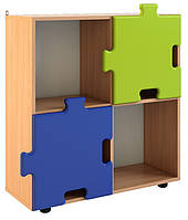 Шкаф для игрушек полузакрытый «Пазлы» — 855х300х910 мм, фото 1