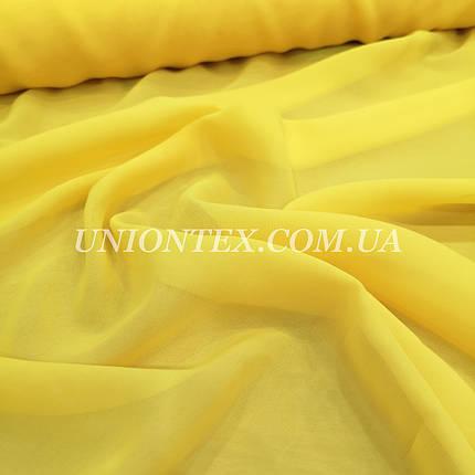 Ткань шифон желтый, фото 2