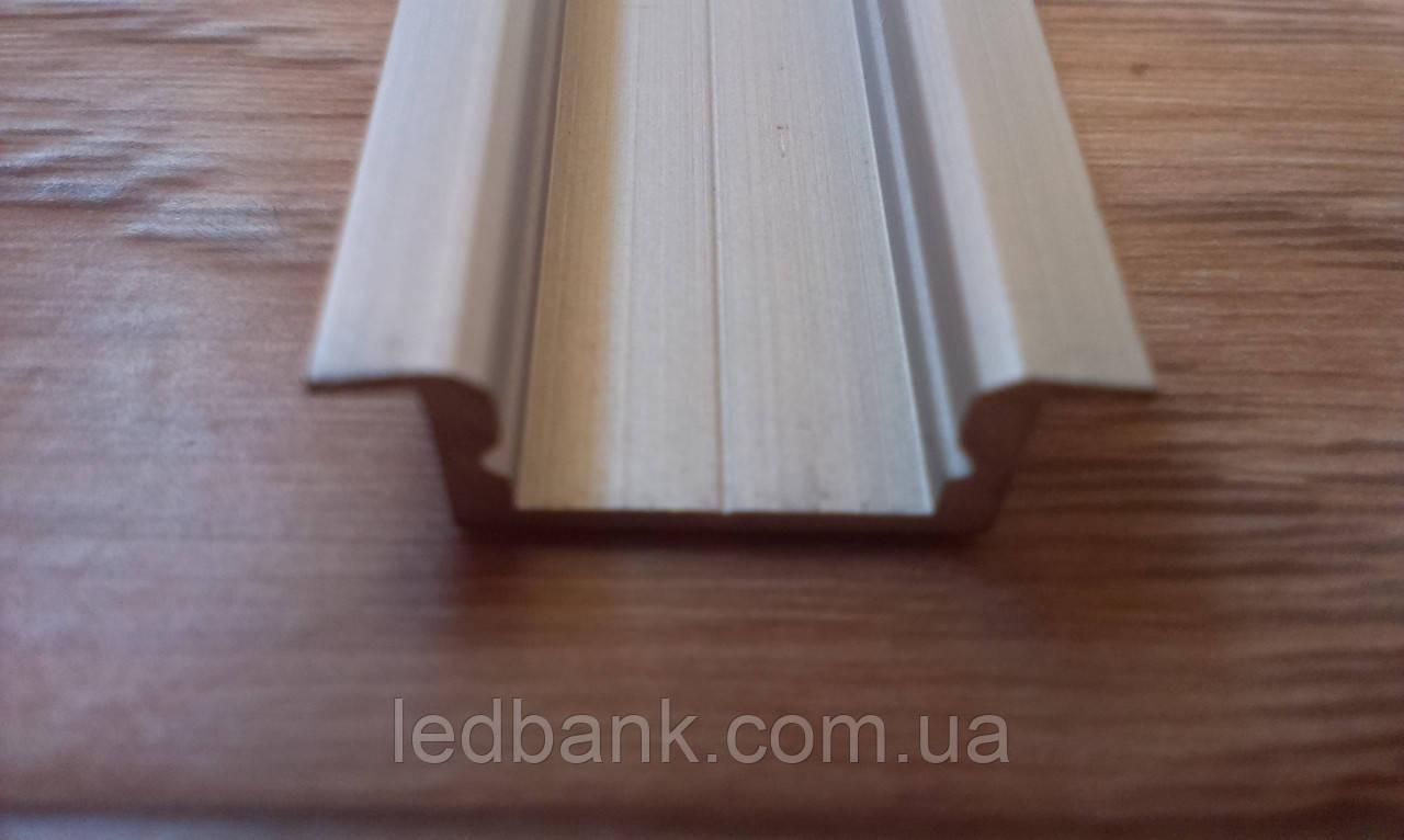 Алюминиевый профиль для светодиодных лент врезной ЛПВ7, фото 1