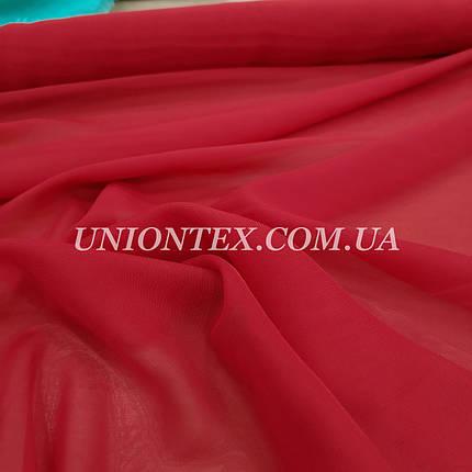 Ткань шифон красный, фото 2