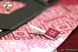 Мужской бордовый набор с зажимом Сакар, фото 2