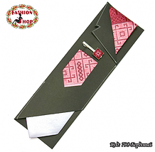 Мужской бордовый набор с зажимом Сакар, фото 3