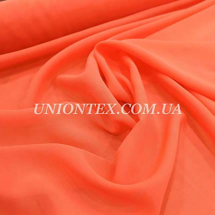 Ткань шифон оранжевый неон, фото 2