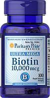 Вітаміни Puritan's Pride Biotin 10 000 mcg 100 softgels