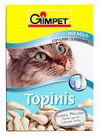 Витамины для котов Gimpet Topinis молоко, для улучшения обмена веществ, микрофлоры кишечника, 180 таблеток