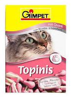 Витамины для котов Gimpet Topinis творог, для улучшения обмена веществ, микрофлоры кишечника, 180 таблеток