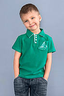 Детская футболка с воротником поло для мальчика (зеленый, от 3-х до 7-ми лет) (КАР 03-00508-2)