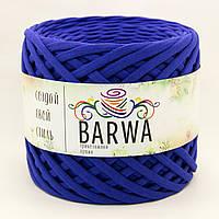 Трикотажная пряжа BARWA light 5-7 мм, Синий кобальт (cobalt blue)