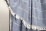 Плед-накидка хлопок 120х165 Gleam синий Barine, фото 2