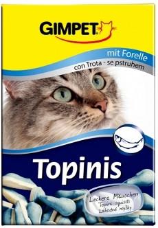 Витамины для котов  Topinis форель, для улучшения обмена веществ, микрофлоры кишечника, 180 таблеток