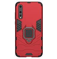 Бронированный противоударный чехол Transformer Ring для Huawei P30 Dante Red
