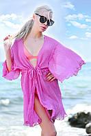 Женская стильная короткая пляжная туника №9196/4 (р.42-48) фуксия, фото 1