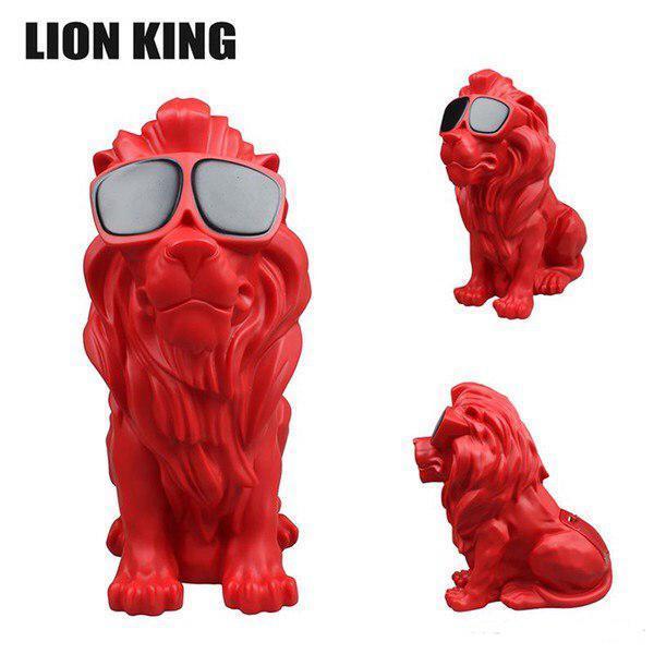 Портативная колонка Bluetooth лев Red