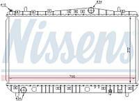 Радиатор водяного охлаждения Chevrolet Lacetti 1.6,1.8 16V механическая КПП (производство NISSENS)