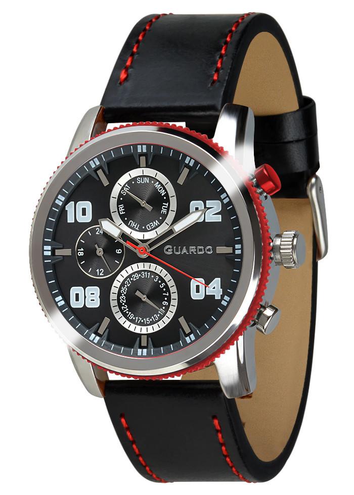 Часы мужские Guardo 011097-1 серебряные