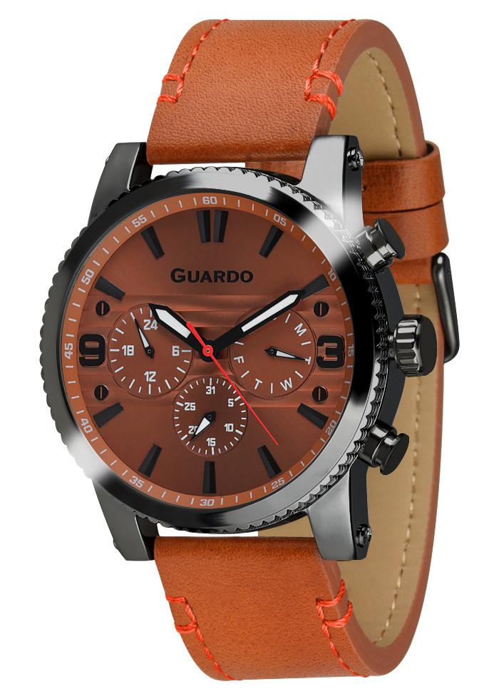 Часы мужские Guardo 011401-5 коричневые
