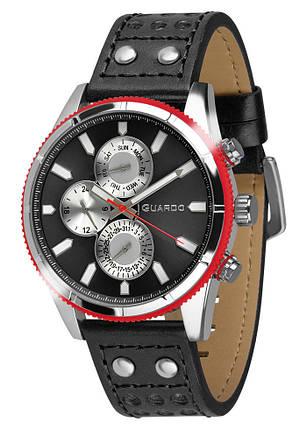 Годинники чоловічі Guardo 011447-1 чорні, фото 2