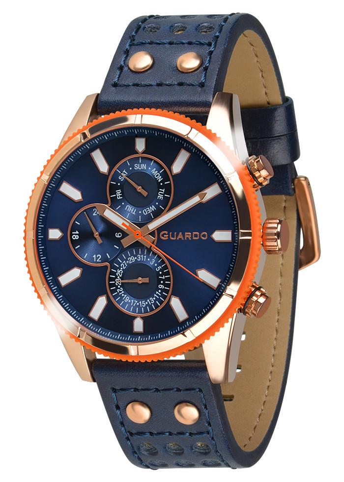 Часы мужские Guardo 011447-5 золотисто-оранжевые
