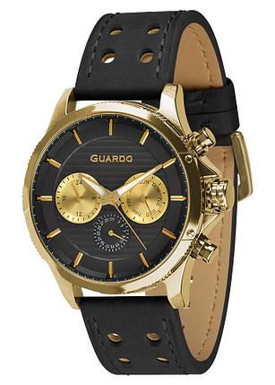 Часы мужские Guardo 011456-3 черные, фото 2