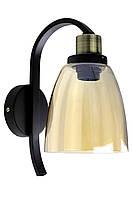 """Бра настенное в стиле """"LOFT"""" (лофт) (28х14х22 см.) Матовый черный YR-B8052/1"""