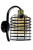 """Бра настенное в стиле """"LOFT"""" (лофт) (29х16х24 см.) Матовый черный YR-8175/1-br"""