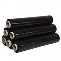 Стрейч-пленка техническая черная 20 мкм (2 килограмма)